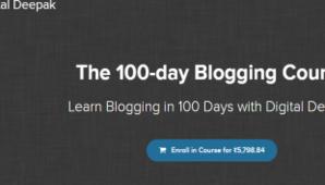 Digital Deepak – The 100-day Blogging Course