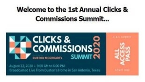 Duston Mc Groarty – Clicks & Commissions Summit 2020