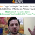 Nick Peroni – One Product Profits (Update 1)