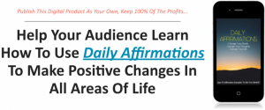 Daily Affirmations PLR Package Free Download