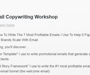 Danavir Sarria – Ecomm Email Workshop