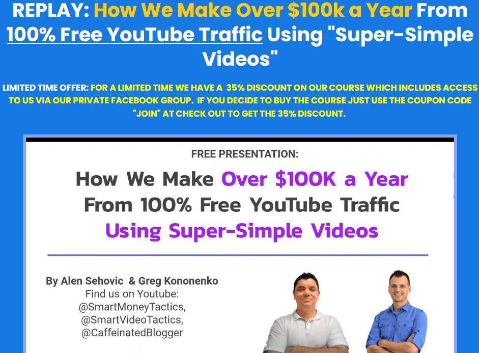 """Greg Kononenko – Jet Video Academy ( How We Make Over $100k a Year From 100% Free YouTube Traffic Using """"Super-Simple Videos"""") Download"""